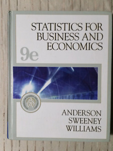 Statistics for Business and Economics 9th Edition