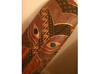 Beautiful hand painted tribal African mask