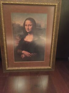 Moving sale Mona Lisa replica  Cambridge Kitchener Area image 2