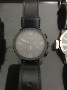 Fossil - Nate - All Black Watch