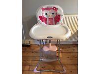 GRACO kids highchair (pink/white)