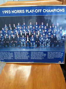 Toronto maple leafs   1993 norris champions framed photo 20 x 16 Kitchener / Waterloo Kitchener Area image 9