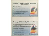 Primary Tuition in English and Maths