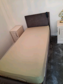 Electric Single Bed and new mattress
