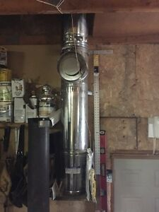 "10"" chimney pipe 7 sections plus clean out 150$"