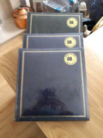 3 Sealed large size photograph albums