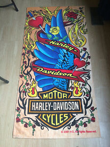 Harley-Davidson full sized mint collector's beach towel