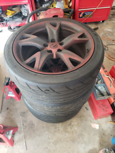 Nissan 370z sport wheels and Hankook RS3'S