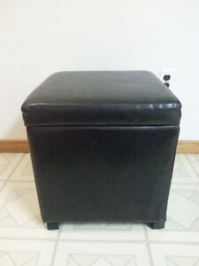 Leather Ottoman with Storage