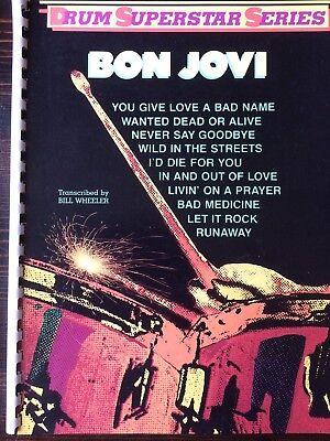 (BON JOVI Drum Superstar Series DRUM TAB BOOK)