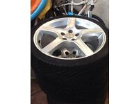 """4 X TSW 17"""" Alloy Rims with almost new tires £200"""