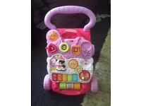 Vtech pink baby walker fully working with batteries