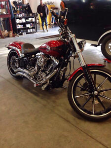 Like New 2013 Harley Davidson Breakout with upgrades.