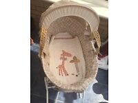 REDUCED ZAM BEE ZEE Moses basket