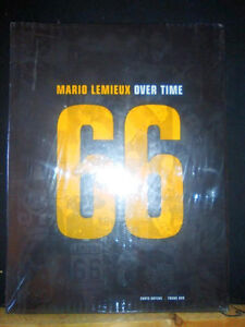 Brand new hardcover MARIO LEMIEUX: OVER TIME hockey NHL book