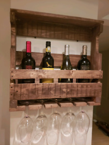 Rustic Handmade Wooden Wine Rack