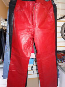Red Leather ladies pants size 4-   recycledgear.ca Kawartha Lakes Peterborough Area image 7