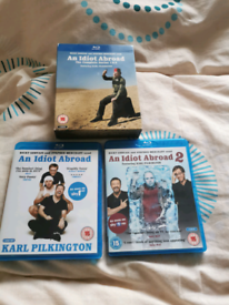 An Idiot Abroad Series 1 & 2 Blu-Ray DVDs