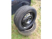 Brand new 185/55/15 continental tyre on a vauxhall 4 stud rim never used 07594145438