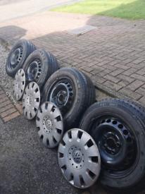 Vw t5 steel wheels tryes