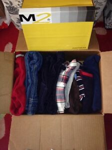 Box of pants, shirts, shoes, sweaters for 4 years old boy