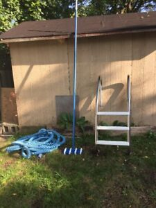 Pool Ladder and Hose