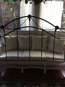 king size antique style wrought iron head board LIKE NEW