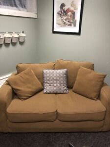 Pier One foam fold out couch