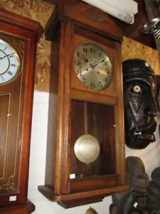 1920S WALL CLOCK FROM ESTATE