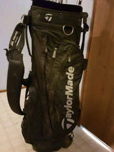 Taylormade bag with clubs