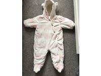 Baby girl snowsuits/costs