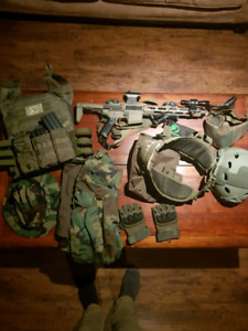 Paintball/airsoft loadout lot!!