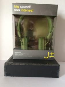 J + Headphones Green