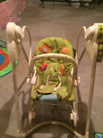 Swing and reclining chair set
