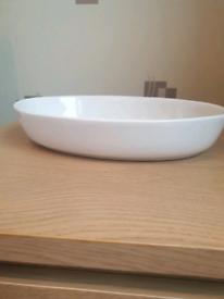 White Oval Dish