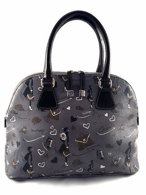 Cromia Fantasy Gray Leather Tote Women Handbag, medium., used for sale  Shipping to United States