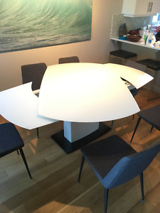 Amazing Cool White Glass Table Can Seat Up To 10