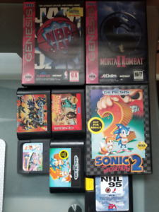 Sega Games (Genesis and one Game Gear)