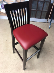 Dark Cherry/Red Bar Stools (NEW)