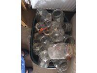 Kilner jars, 3 sizes