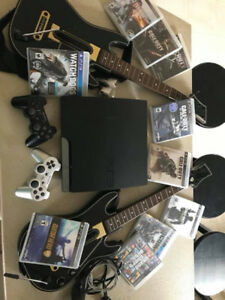 PlayStation 3 Bundle 250gb comes with 2 remotes, headset & more