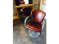Hair salon chairs X 6