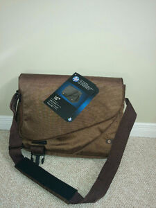 "Brand New 16"" laptop bag - color Brown"