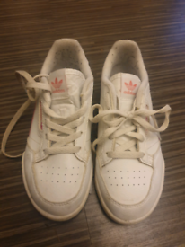 Girls pink white trainers