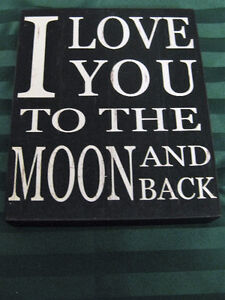 Wooden 'I Love You To The Moon And Back' Plaque F/S