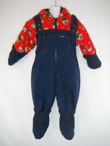 Adorable Hooded Vintage OshKosh 24 month Warm Bunting Snow Suit