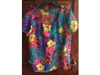 shirt floral size 10