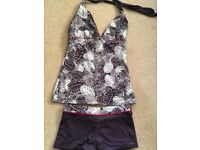 Fat Face tankini and bikini shorts, size 8/10