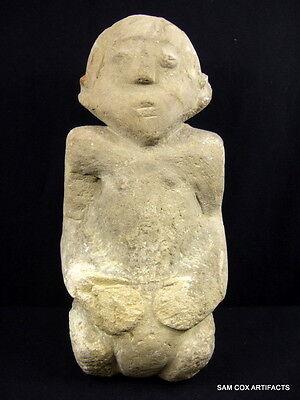 Museum Grade Prehistoric Tennessee Stone Idol Statue Indian Artifacts Arrowheads