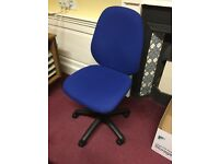 3 office swivel chairs.